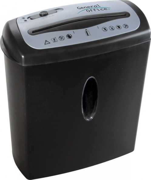 destructeur de document electrique avec coupe croisée securité 3 jusqu'à 8 feuille bac 15 litres general office