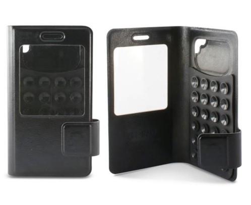Étui folio à ventouses universel pour smartphones 4'' KSix