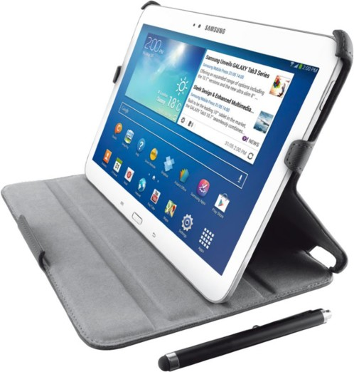 Etui folio stand & stylus pour Galaxy Tab3 10.1