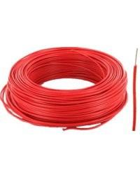 Fil électrique H07VU format 1,5 mm² Rouge - 100m