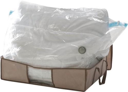 sac avec housse pour rangement sous vide linge et habits. Black Bedroom Furniture Sets. Home Design Ideas