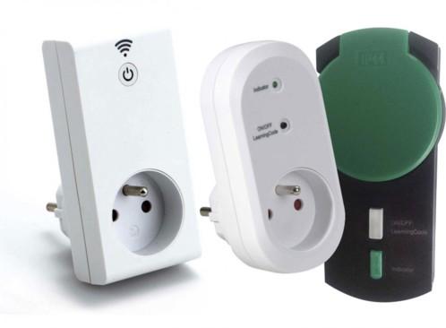 Kit prise Smart wifi avec prise murale télécommandée x2 - Intérieur + Extérieur