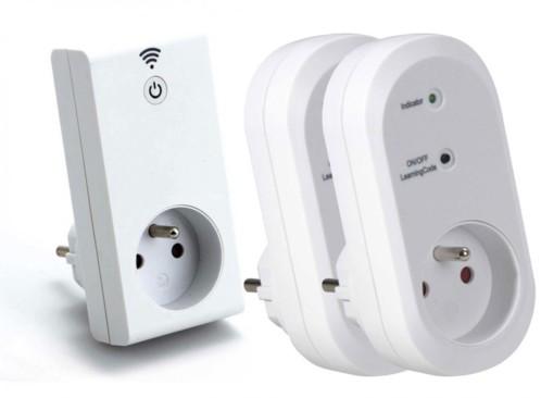 Kit prise Smart wifi avec prise murale télécommandée x2 - Intérieur