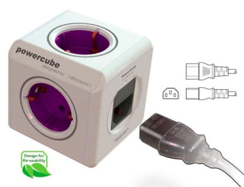 multiprise 2p et usb avec adaptateurs de voyage powercube allocacoc. Black Bedroom Furniture Sets. Home Design Ideas
