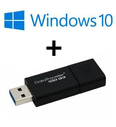 Pack Windows 10 Home 64 bits OEM avec clé USB 32 Go