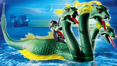 Playmobil 4805 hydre de mer motoris e et son cavalier - Playmobil pirate fantome ...