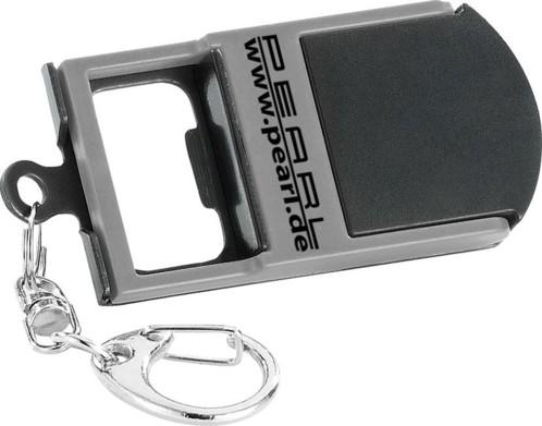 Porte-clés 3 en 1 : lampe LED, ouvre-bouteille et support pour smartphone