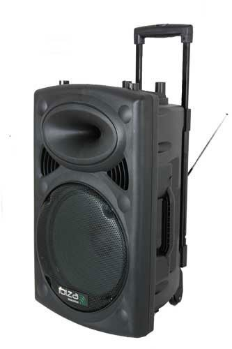 Sono portable + 2 micros Ibiza Sound PORT15 - 800W