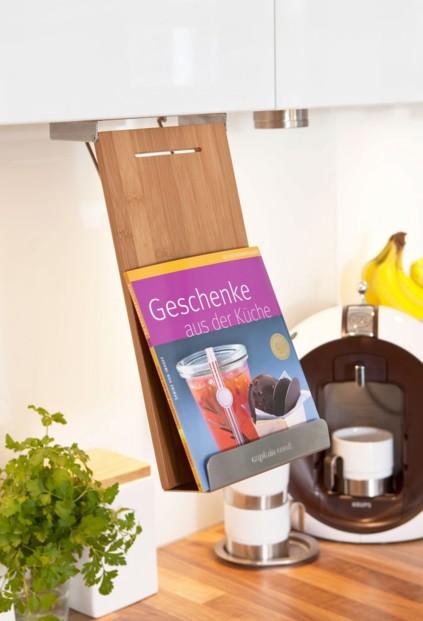 Support tablette et livre pour tag re id al cuisine for Etagere pour livre de cuisine