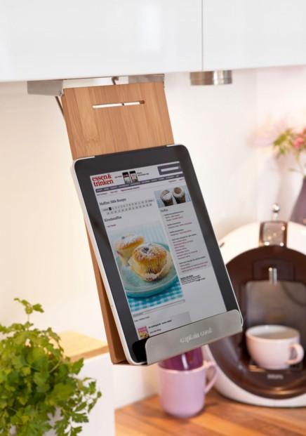 Support tablette et livre pour tag re id al cuisine - Etagere pour livre de cuisine ...