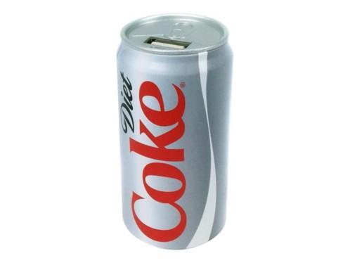 batterie de secours usb 2000mah forme canette coca cola light diet coke
