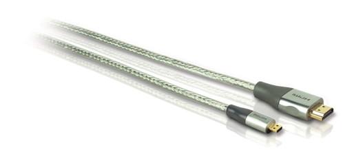 cable hdmi micro hdmi pour tablettes et smartphones avec connecteurs or philips SWV3445S