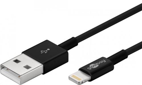 Câble Lightning vers USB - Certifié MFi - 1 m - Noir
