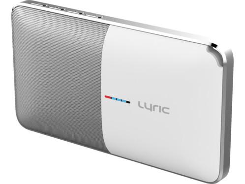 batterie de secours pour smartphone avec haut parleur bluetooth intégré novodio lyric blanc