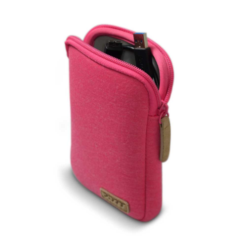 Housse de protection port torino pouch rose pour hdd 2 5 for Housse disque dur externe 3 5