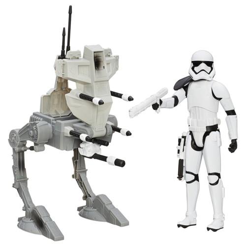 figurine articulée sergent stormtrooper nouvel ordre avec vehicule ar-rt star wars episode vii jouet hasbro