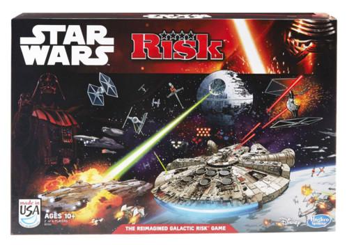 jeu de société strategie risk star wars avec plateau tie fighter pions vaisseaux spatiaux