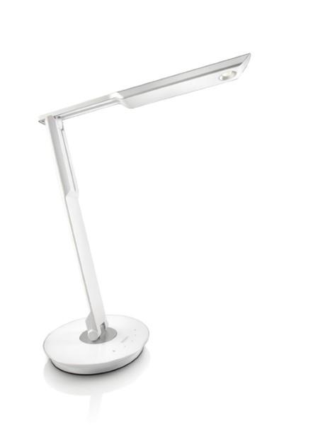 lampe de bureau led avec variateur et usb philips mallet. Black Bedroom Furniture Sets. Home Design Ideas