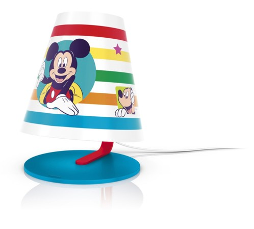 lampe de chevet pour enfant mickey mouse philips avec led. Black Bedroom Furniture Sets. Home Design Ideas