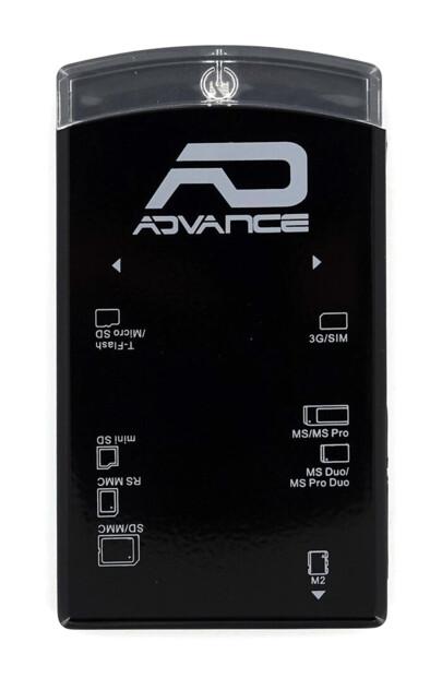 Lecteur de cartes mémoire + SIM externe Advance