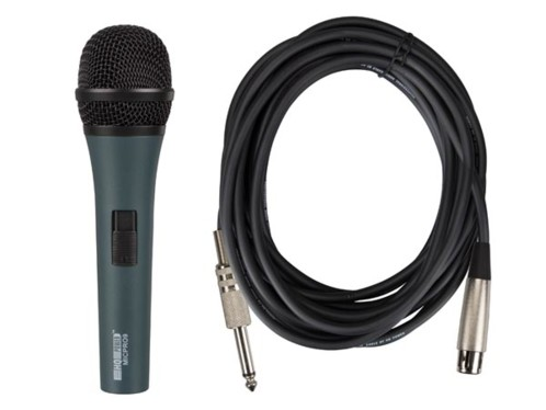 microphone dynamique filaire xlr micpro9 hqpower pour concert animation conference
