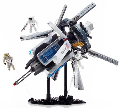 jouet call of duty station spatiale 695 briques mega bloks avec 3 space marines
