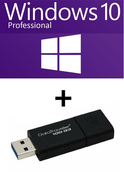 Pack Windows 10 Pro 64 bits OEM avec clé USB 32 Go