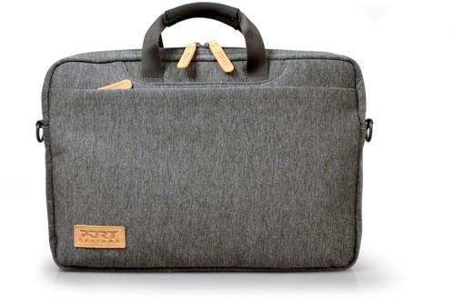 sacoche pc portable 13 14 poucesstyle tweed gris port torino