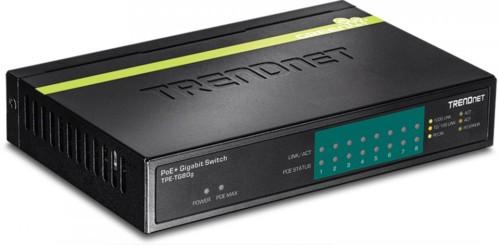 switch poe+ gigabit 8 ports trendnet tpe-tg80g