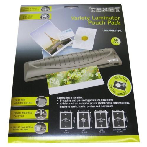 50 Pochettes De Plastification A4 A5 A6 Cartes Visite