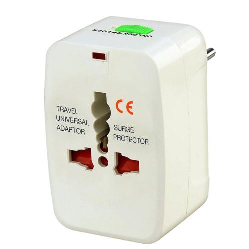 adaptateur secteur formats prises monde 150 pays akashi alt wp 100w blanc