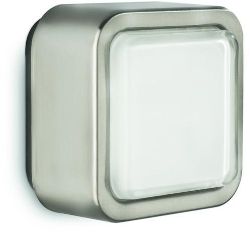 applique murale d'intérieur carrée avec cadre aluminium et led intégrée philips ecomoods 330991716