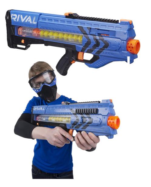 Blaster Nerf Rival Zeus MXV 1200 - Bleu Nerf