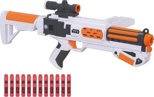fusil a pompe blaster nerf star wars stormtrooper deluxe avec 12 flechettes visee tactique crosse chargeur