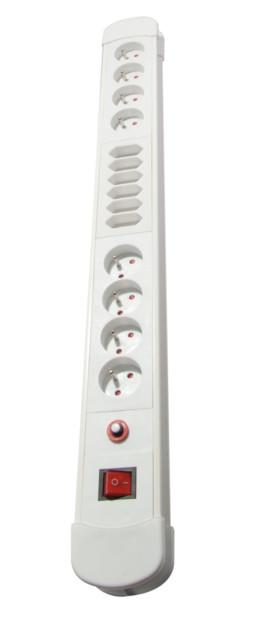 Bloc Multiprises 8 + 6 prises avec câble 3 m - Blanc