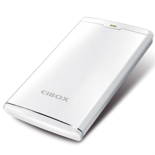 boitier disque dur externe usb 2.0 sata 2.5 cibox neron deluxe blanc