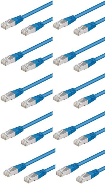 10 câbles RJ45 bleu cat5e F/UTP - 3m