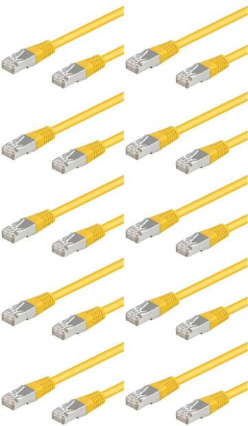 10 câbles RJ45 jaune cat5e F/UTP - 3m