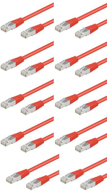 10 câbles RJ45 rouge cat5e F/UTP - 3m