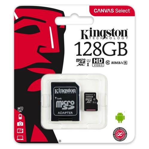 Carte Micro SDXC avec adaptateur Canvas Select - 128 Go