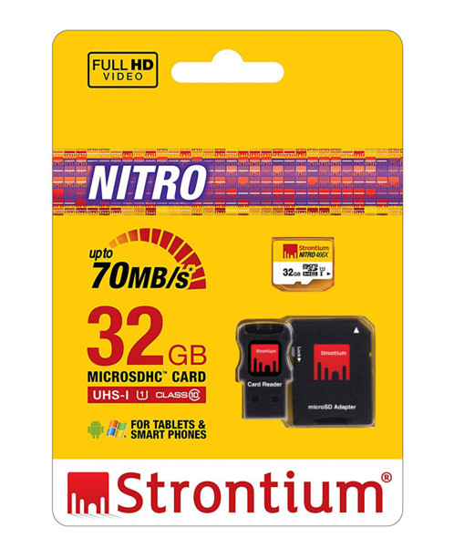 carte micro sdhc strontium nitro avec adaptateur sd usb. Black Bedroom Furniture Sets. Home Design Ideas