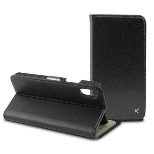 Coque de protection avec clapet folio pour iPhone X / XS
