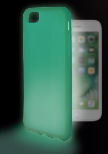 coque de protection iphone 7 7s vert phosphorescente dans la nuit Ksix Sense