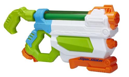 pistolet à eau 2 en 1 avec double jet et pompe nerf super soaker flashflood