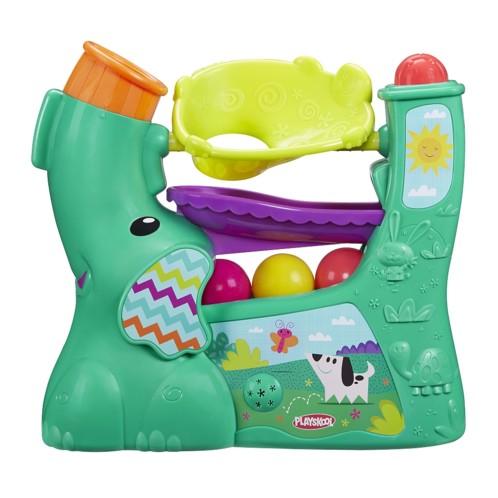 jeu d'eveil petite enfance bébé playskool aeroballes elephant souffleur apprentissage couleurs