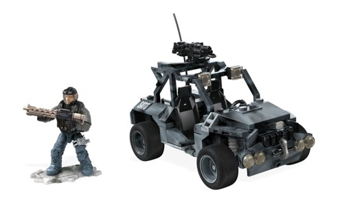 jouet de construction call of duty mega construx vehicule tout terrain avec figurine