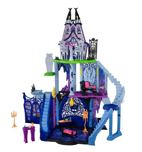 chateau à monter monster high catacombes infernales 3 niveaux avec accessoires lit table chaises armoires cercueils escaliers canapés