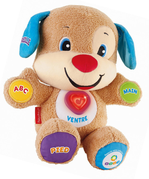 jouet 1er age rires et eveil fisher price puppy eveil progressif apprentissage des parties du corps peluche chien