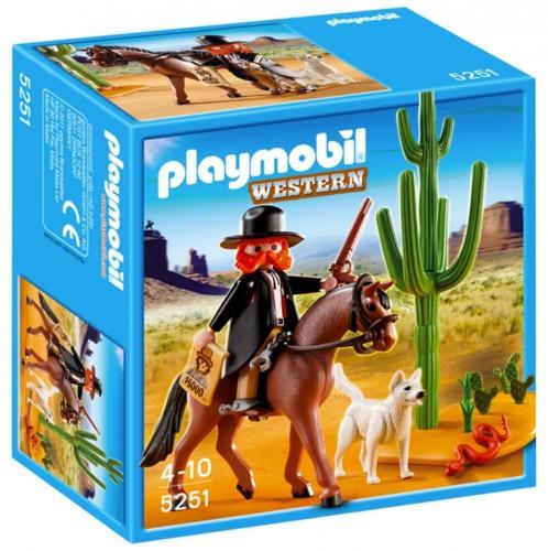 Playmobil collection Western : Le Shérif à cheval (5251)