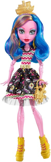 poupée monster high gooliope jellington fille géante en gelée rose costume corsaire